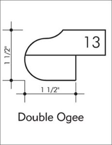 Double Ogee Bullnose Edge